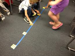 Kinesthetic number line 2