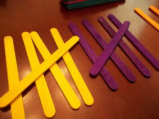 tally mark craft sticks