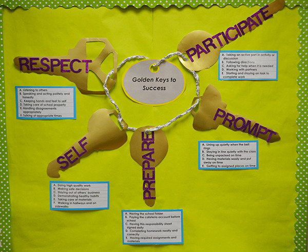 Golden Keys to Success bulletin board_rs