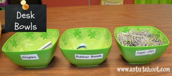 Desk bowls
