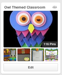 Owl Themed Classroom Collaborative Board