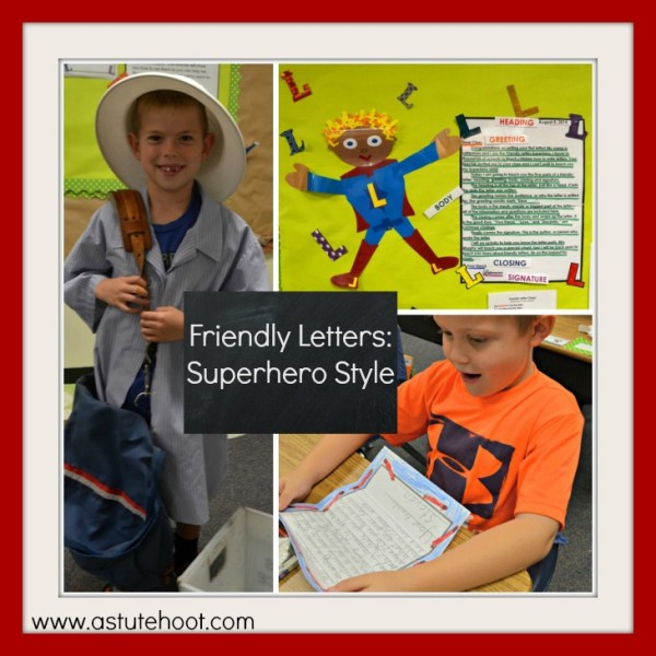 Students love Letterman, our Friendly Letter Superhero.