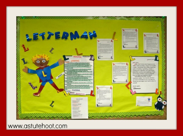 Letterman bulletin board
