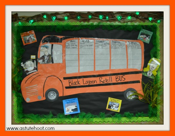 Black Lagoon retell bus-- Halloween Blog Hop