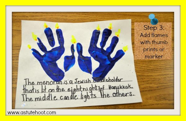 handprint menorah 3