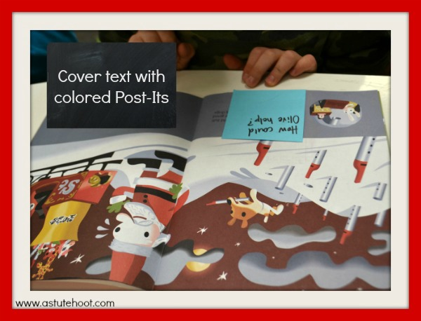 Cover text with Post-Its