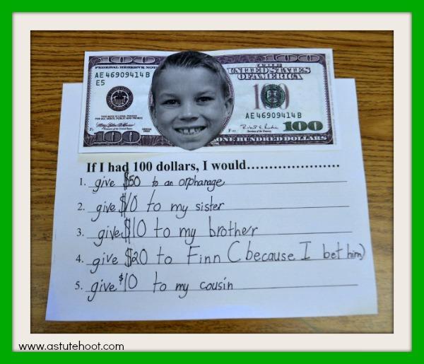 If I had $100 example 1