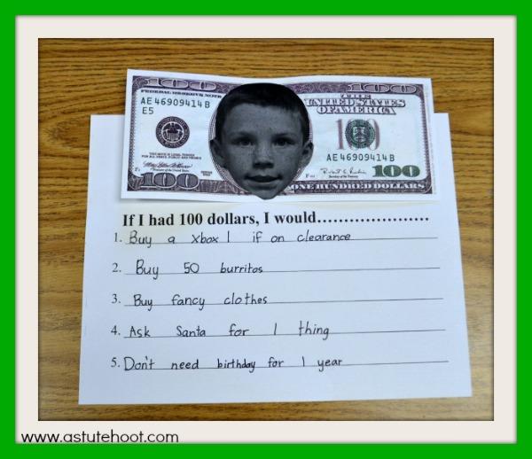 If I had $100 example 2