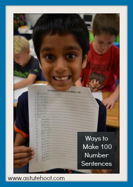 Ways to Make 100 Number Sentences