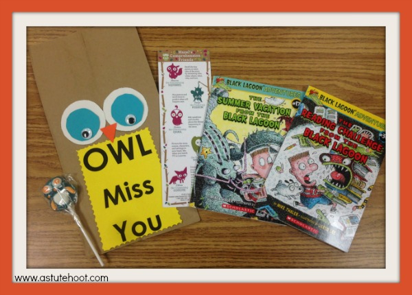 Owl treat bag materials