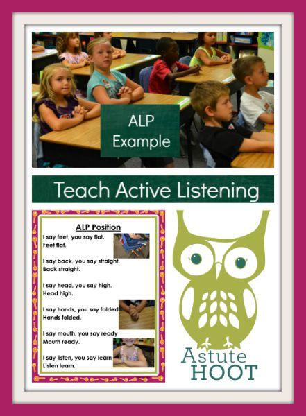 Teach active listening collage