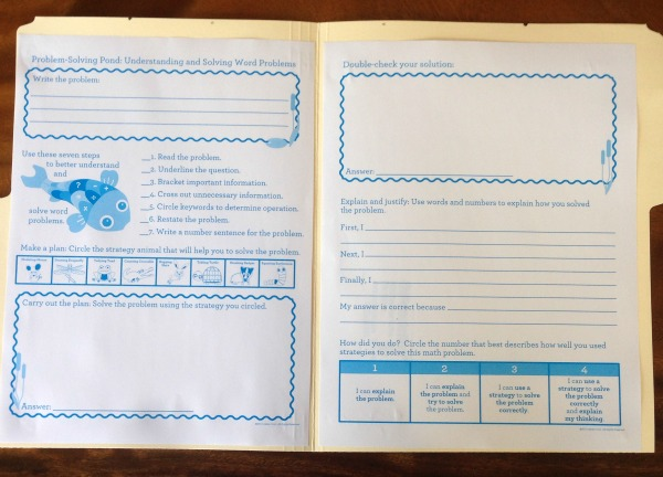 Inside of problem solving journal