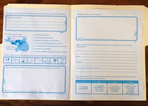 Inside of problem solving journal
